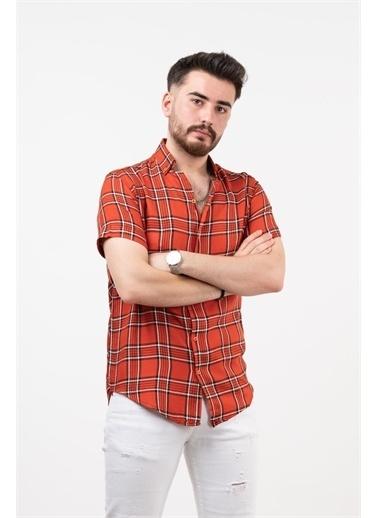 Deri Effect Deri Effect Erkek Ekose Desenli Salaş Gömlek Kırmızı